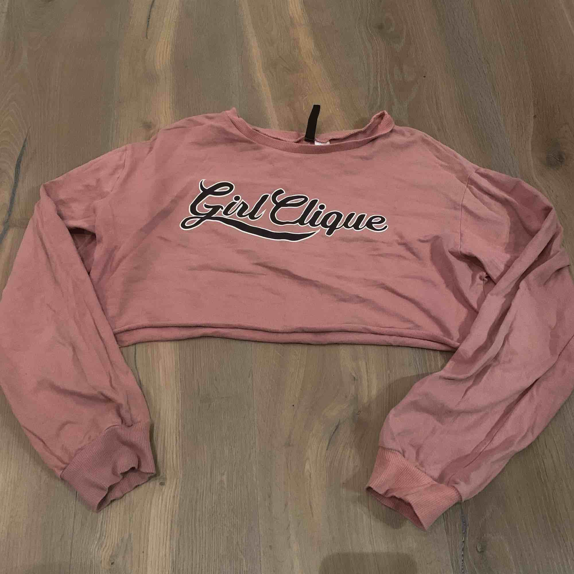 Mag tröja i smuts rosa. Det står Girl Clique på den. Tror den är från HM! . Toppar.