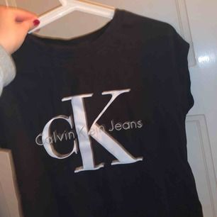 Calvin Klein t shirt, nypris 500 kr och bara använd några enstaka gånger. Köpare står för frakt annars möts jag gärna upp i Lund!