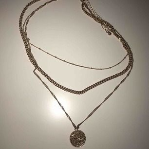 Treradigt guldhalsband, 50kr+frakt
