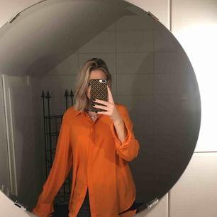 Oversized skjorta, orange