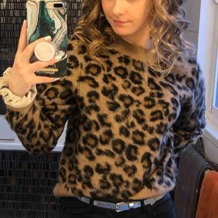 Mysig leo tröja från H&M, sparsamt använd. den var väldigt efterfrågad. Jag kan sänka priset. Köparen står för frakt.💓
