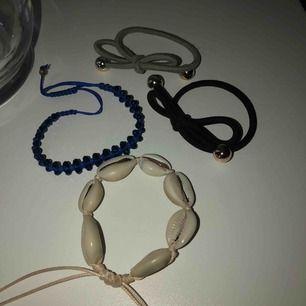 Armband från olika butiker, alla för 20kr