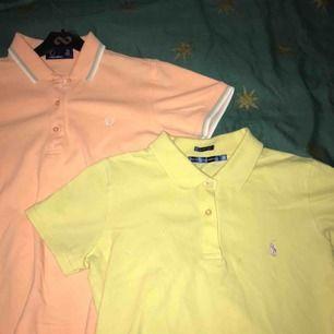 Gulliga pikétröjor från Fred Perry & Ralph Lauren i pastellfärger. Båda i bra skick, Fred Perry pikén är i princip helt oanvänd ! Båda två passar storlek M. Köpare står för eventuell frakt! 🤝💕