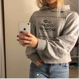 Säljer min fina hoodie från cheep monday, endast haft den i någon månad och är i galant skick. Frifrakt😊