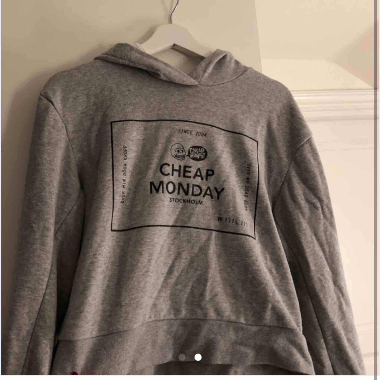 Säljer min fina hoodie från cheep monday, endast haft den i någon månad och är i galant skick. Frifrakt😊. Huvtröjor & Träningströjor.