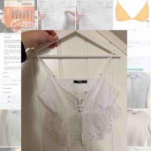 Superfin sommarblus som passa perfekt till högmidjade kjolar. Använd 1 gånger. Säljer pga för liten.