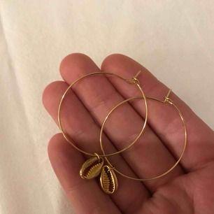 Örhängen i guldfärg aldrig använda, bara testade❤️