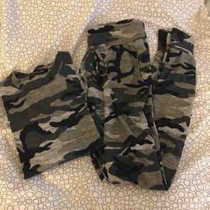 Ett kamouflage set som jag tror är ifrån madlady. Står inte storlek men tror det är s/xs. Inte andvänt så mycket. Köparen står för frakten