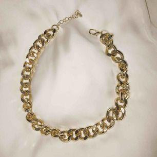 Guldkedje-halsband. I mycket fint skick.
