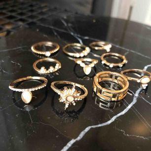 Nya ringar, 150kr för alla eller 20-30kr/st beroende på hur många du köper! 💛