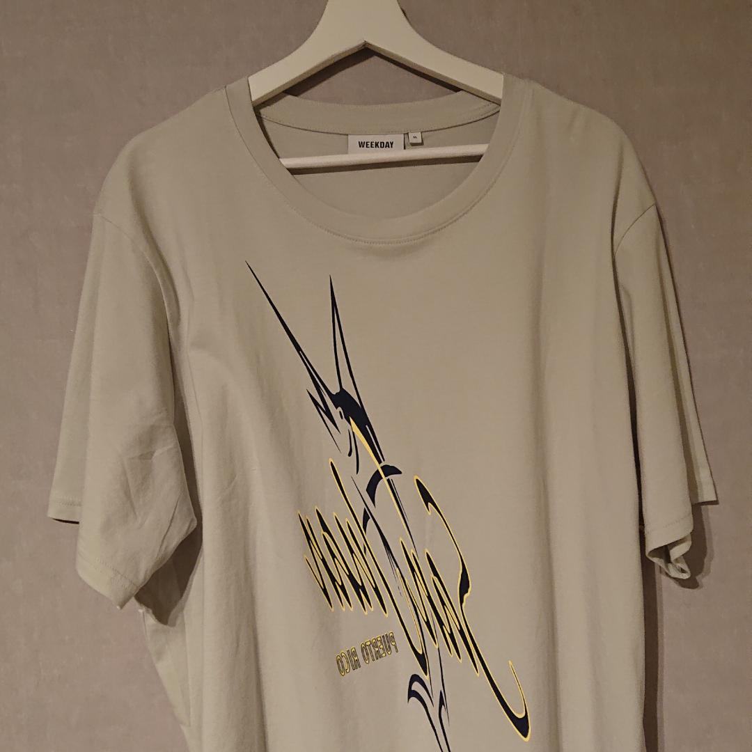 Säljer denna såsåså snygga T-shirt från Weekday då den inte används tyvärr ): Köptes för 399 Kr inne på Weekday och då den inte blivit använd så är den i Ny skick! PS. Passar som en L också i storlek (:. T-shirts.