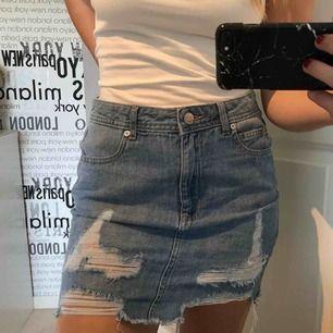 Jeans kjol från madlady, knappt använd!