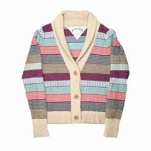 Tommy Hilfiger Denim cotton wool blend multicolored striped cardigan SIZE Label: L, but fits best XS-S Model: 165/XS Measurements (flat): Length: 65 cm pit to pit: 48 cm Free shipping! Read full description at our website majorunit.com No returns