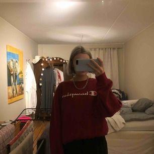Mysig och cool sweatshirt från champion i storlek L, inköpt för ca 1 år sen, den är varm och mysig men även väldigt oversized. Köparen står för frakt