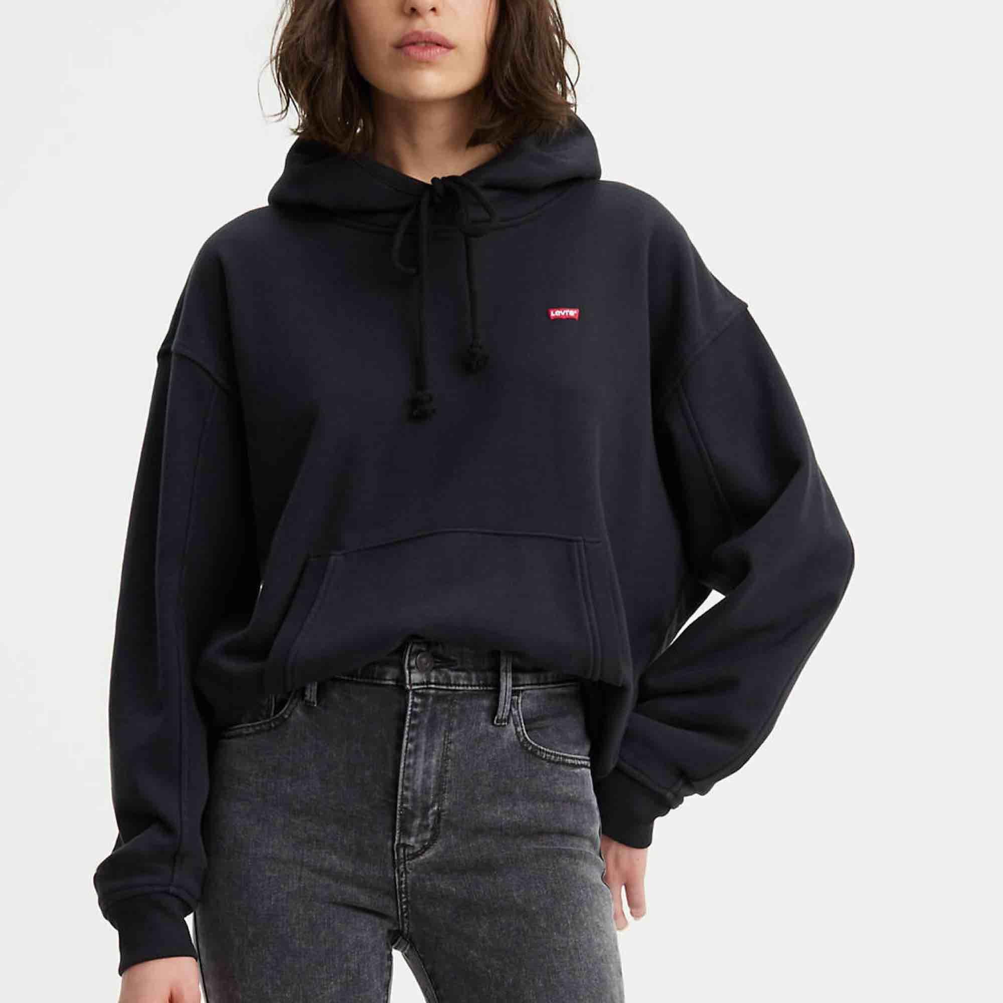 Oversized levis hoodie i storlek xs så passar absolut S och möjligtvis M också! . Huvtröjor & Träningströjor.