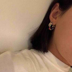Hej! Vi är ett UF-företag som säljer egen gjorda unika örhängen. Med våra örhängen vill vi uppmuntra olikheter och sänker även 10% av vinsten till den mobbningsbekämpande organisationen Friends!             Pris: 29:- /styck