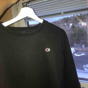 En svart Champion sweatshirt i Storlek M men passar mig som har S (lite oversized)  bra skick