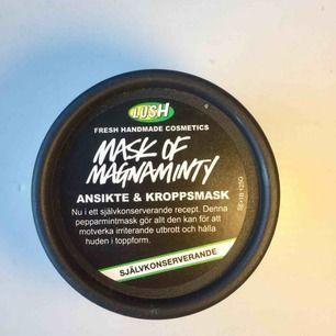 Ansiktsmask från Lush, endast testad 🥰  Luktar jätte gott och fräscht. Säljer för den passade inte min hudtyp, har torr hy, så den passar nog bättre för normal/fet hy.