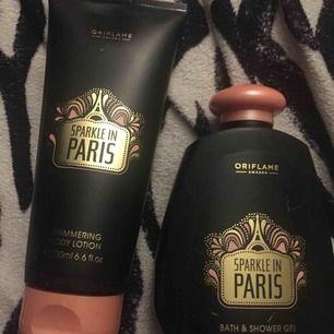 Shower gel & body lotion i samma doft från märket Oriflame. 🌸🧼 Shower gel 300ml& bodylotion 200ml🧴 Frakt tillkommer på ca 35kr-50kr 📦 Mitt pris som gäller✅