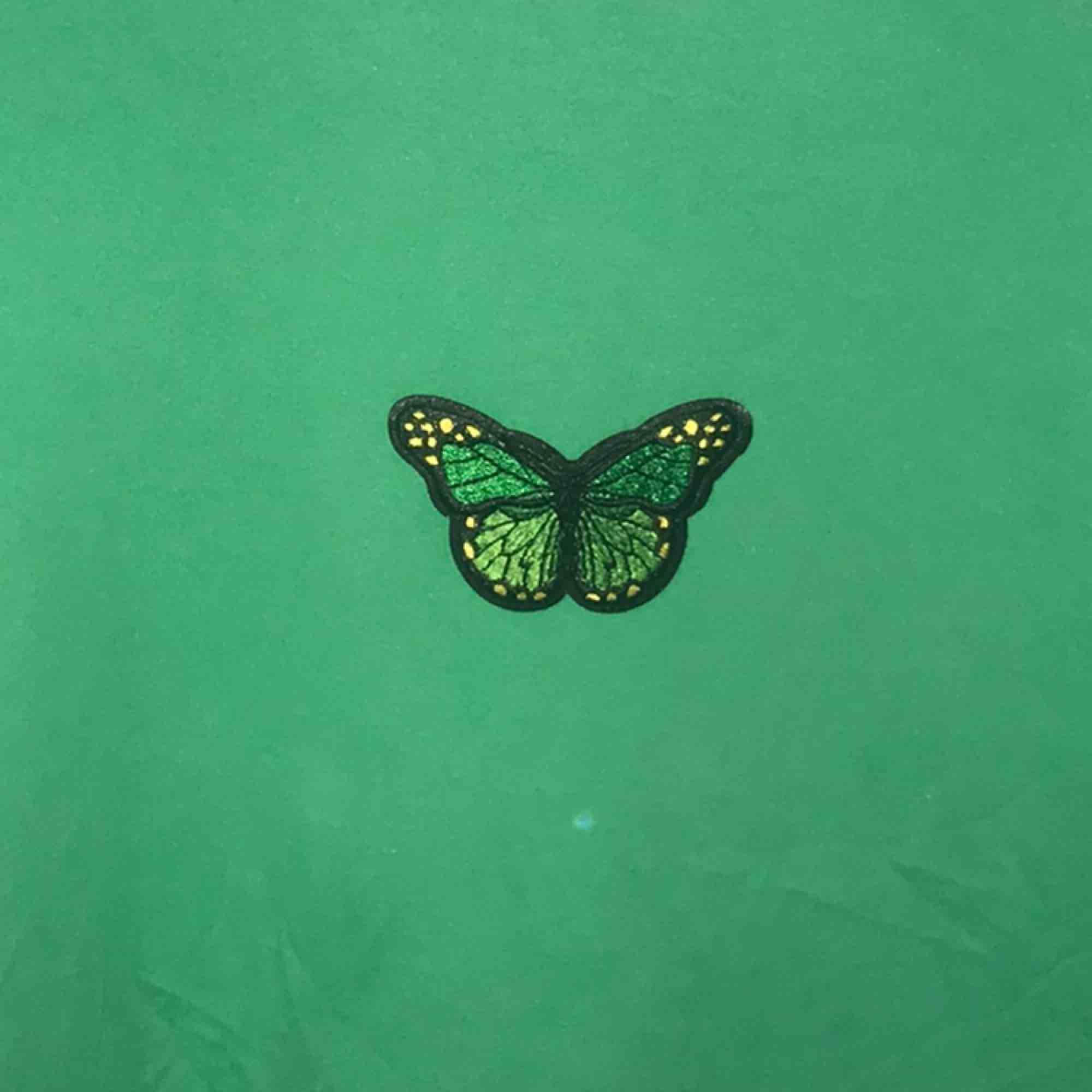 Fin grön t-shirt med en grön fjäril på bröstet. Frakt ingår ej💓. T-shirts.