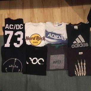 Alla är i storlekarna S,M och L och är T-shirts. betalning sker via swish och köpare står för ev frakt!📦🚚😊 PAKET PRIS!