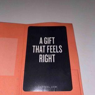 presentkortet är på 500 och aldrig använt! Frakt 12 kr!