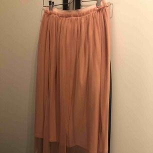 Ljusrosa kjol med resår i midjan, endast provad och aldrig använd! Jag är 169 cm lång och kjolen går till mitten av mina smalben.  Nypris: 179:-