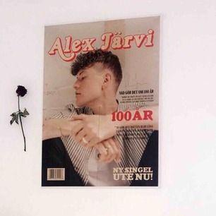 """Säljer en signerad Alex Järvi affisch som jag fick hemskickad när han släppte """"100 år""""  Startbudet är 30kr + frakt❤️ Den är i riktigt bra skick, den är som ny om ni vill ha en bättre bild på autografen kan ni skriva så skickar jag👍🏼"""