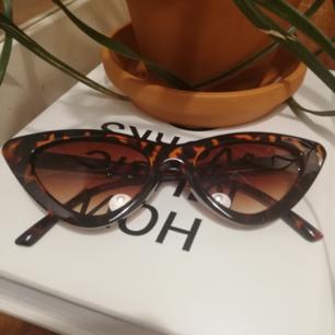 Kattiga solglasögon i brunt sköldpaddsmönster. Aldrig använda, köpte ett par likadana i svart så dessa har bara blivit liggandes. Frakt 18 kr.
