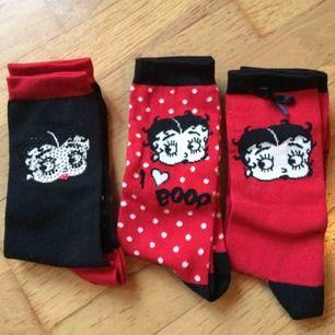 3 st nya Betty Boop strumpor i stl 39-45. Frakt: 42 kr i postens påse 🌸