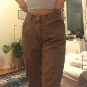 ett par bruna jeans ifrån lee, passar jättebra på mig som är 169cm lång och brukar ha ungefär 27 i midjan