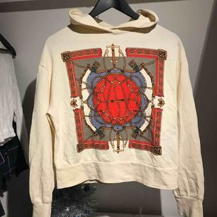Tunnare hoodie från Zara med snyggt print på i bra skick Köparen står för frakt