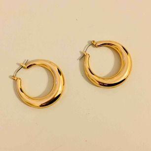 Helt oanvända guldiga örhängen från NA-KD!  I fint stick, super snygga!   Frakt --> 10 kr 🌸