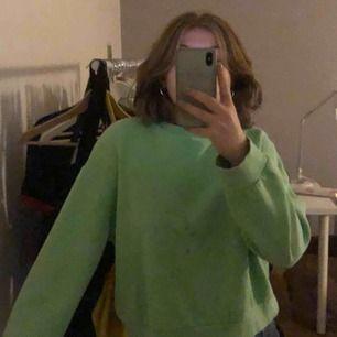 En neongrön svincool sweatshirt från zara som nästan aldrig använts.