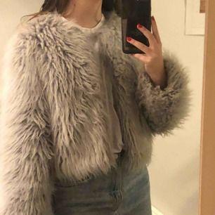 Fin pälsjacka från Zara! Gråblå färg som inte riktigt syns på bilden!💕
