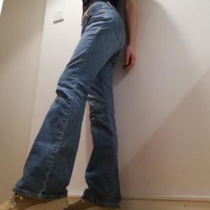 Levi's ljusblå vintage bootcut jeans i stl 27/32. Midjemått 76 cm, innerbenslängd 82 cm. Frakt 59 kr.
