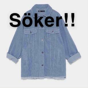SÖKER!!! Blå overaized manchesterjacka från zara