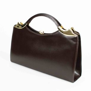 Vintage 60s classic leather top handle handbag in brown Height: 19 Width: 33.5 Depth: 6.5 Free shipping! Read the full description at our website majorunit.com No returns