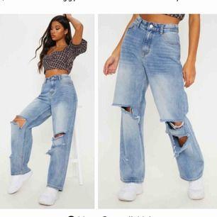 Säljer dessa trendiga byxor från Prettylittlething. Helt nya och oanvända. Säljer pågrund av att dem är för stora och jag är storlek 34. Buda gärna. För fler bilder skriv privat.