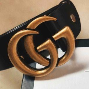 Gucci bälte kopia endast använd ett par gånger 150 inkl frakt