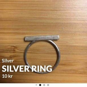 En silver ring