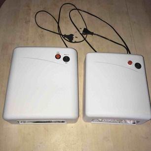 2 st uv lampor i fint skick.  ena plattan helt ny! lamporna fungerar men saknas ett lysrör på båda, men finns och köpa billigt på många ställen. köpta för 399 kr/st säljer båda för 400kr tillsammans.