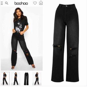Super snygga byxor från boohoo🙌 Köpta här på Plick men var för stora för mig😢💓 Är lagom långa för mig som är 168/169 cm. Frakten inkl i priset!