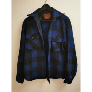 Jacka / skjorta i ull Vintage Ofodrad