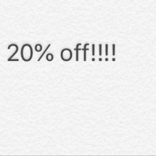 Om man köper något plagg innan den 31 så får ni 25% rabatt på plagget kanske tom mer!!! ( gäller Inläggen innan!!!