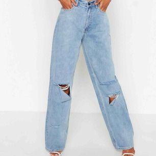 Svinsnygga byxor från boohoo som är köpta för 499kr. Tyvärr fick jag hem fel storlek och orkar inte skicka tillbaka:/