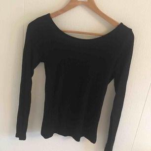 Jättefin svart tröja med korsad rygg 😍 kan användas både som myströja men enkelt att klä upp den oxå ✨