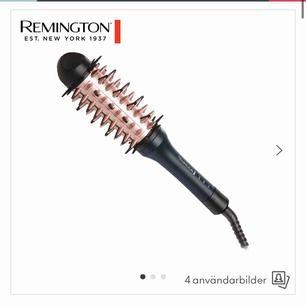 Säljer en borste som plattar håret och ger volym från remington. Nypris är 699kr. Borsten är endast använd en gång och säljes i orginalförpackningen med alla tillbehör.