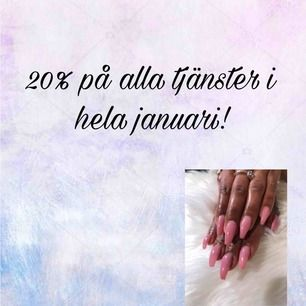 20% under hela januari!!! Instagram @nails.bykm