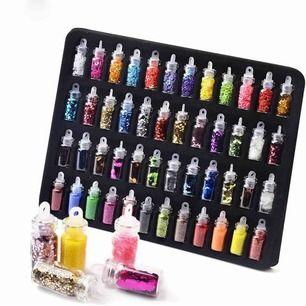 48 st nagelglitter, kan användas till att pyssla och dekorera skal också